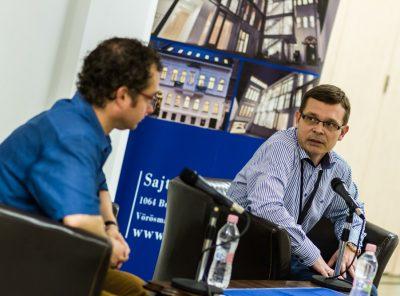 Gedei Norbert pódiumbeszélgetés a Sajtóházban